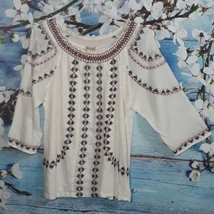 Lucky Brand 3/4 Sleeve Blouse | Size M
